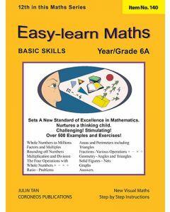 Basic Skills - Easy Learn Maths 6A (Basic Skills No. 140)