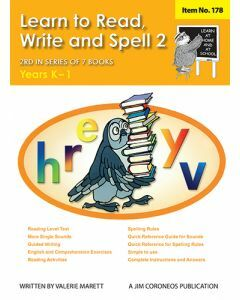 Learn to Read, Write & Spell Book 2 Yrs K to 1 (Item no. 178)