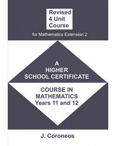 Revised 4 Unit Maths Course for Mathematics Extension 2 (Item no. 19)