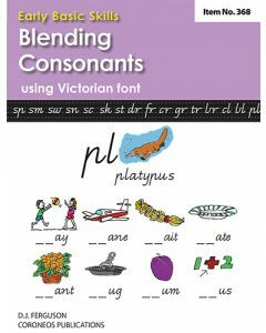 Early Basic Skills 3: Blending Consonants using Victorian font (No. 368)