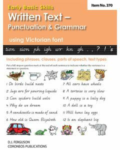 Early Basic Skills 5: Written Text: Punctuation and Grammar using Victorian font (No. 370)