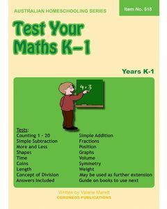 Test Your Maths K to 1 (Item No. 518)