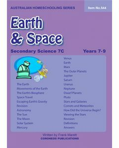 Secondary Science 7C: Earth & Space (Australian Homeschooling Series Item no. 544)