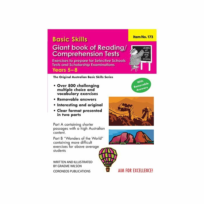 Basic Skills Giant Book of Reading / Comprehension Tests Years 5 to 8  (Basic Skills No  173)