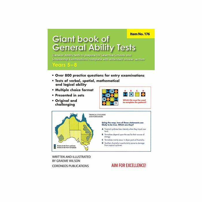 Giant book of General Ability Tests Years 5-8 (Basic Skills No  176)