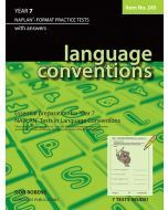 Language Conventions Year 7 NAPLAN* Format Practice Tests #245