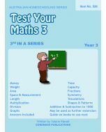 Test Your Maths 3 (Australian Homeschooling Series Item no. 526)