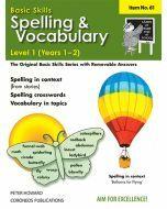 Spelling / Vocabulary Level 1 Yrs 1 - 2 (Basic Skills No. 61)